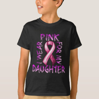 Eu visto o rosa para meu Daughter.png Camiseta