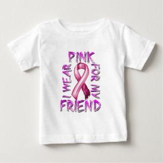 Eu visto o rosa para meu Friend.png Camiseta Para Bebê