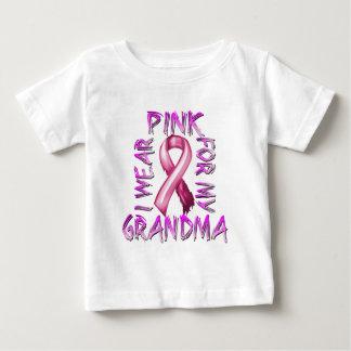 Eu visto o rosa para meu Grandma.png Camiseta Para Bebê