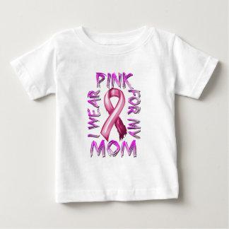 Eu visto o rosa para meu Mom.png Camiseta Para Bebê