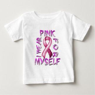 Eu visto o rosa para Myself.png Camiseta Para Bebê