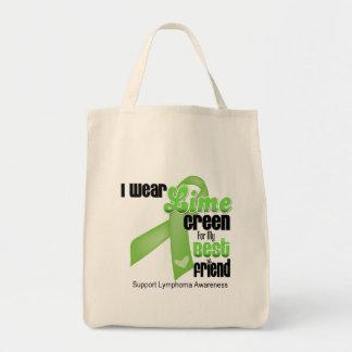 Eu visto o verde limão para meu melhor amigo - bolsa para compras