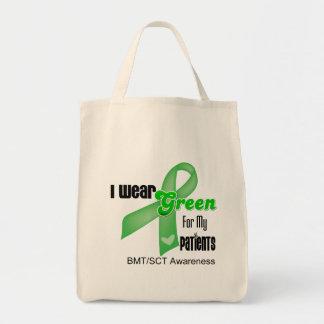 Eu visto uma fita verde para meus pacientes BMT/SC Bolsa Para Compras