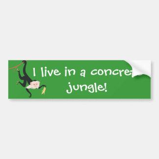 Eu vivo em uma selva concreta! adesivo para carro