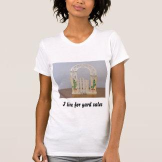 Eu vivo para vendas de jardim t-shirts