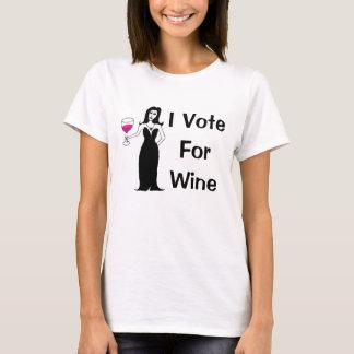 Eu voto para o vinho camiseta