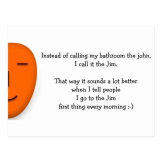 Eu vou ao Jim - envie um sorriso - cartão