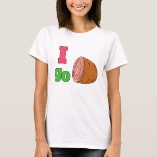 Eu vou camiseta do presunto