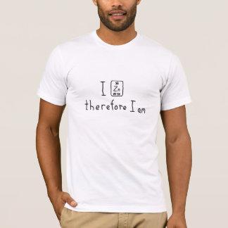 Eu zinco-me conseqüentemente sou camisa da chalaça t-shirt