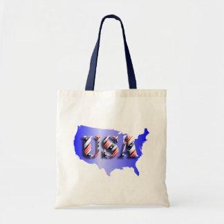 EUA azul+Estrelas+ Tira Bolsa Para Compras