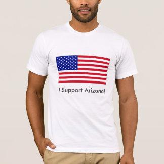 EUA-Bandeira-Grande, eu apoio a arizona! Camiseta