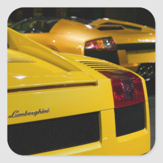 EUA, Califórnia, Los Angeles: Automóvel 2 de Los Adesivo Quadrado