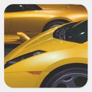 EUA, Califórnia, Los Angeles: Automóvel de Los Adesivo Em Forma Quadrada