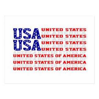 EUA - Cartão da bandeira dos Estados Unidos