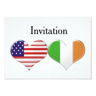 EUA & corações italianos que Wedding/convite do Convite 12.7 X 17.78cm