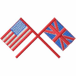 EUA e Grâ Bretanha Camiseta Bordada Polo