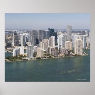 EUA, Florida, Miami, arquitectura da cidade com li Pôsteres