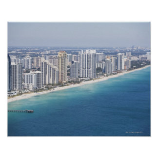 EUA, Florida, Miami, arquitectura da cidade com pr Impressão