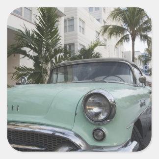 EUA, Florida, Miami Beach: Praia sul, 1956 3 Adesivo Quadrado