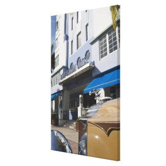 EUA, Florida, Miami Beach: Praia sul, art deco Impressão Em Tela