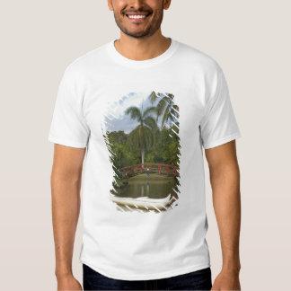 EUA, Havaí, Kauai, jardim de Luau da família de T-shirt