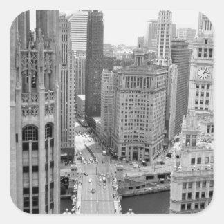 EUA, IL, Chicago, laço do hotel Adesivo Quadrado