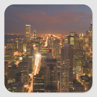 EUA, Illinois, Chicago: Ideia da noite do laço 2 Adesivo Quadrado