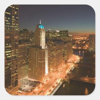 EUA, Illinois, Chicago: O laço: Construções Adesivo Quadrado