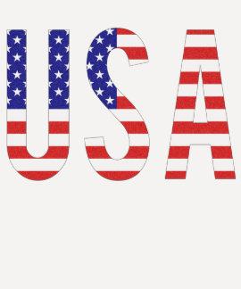 EUA - Letras da bandeira dos Estados Unidos da Amé Tshirts