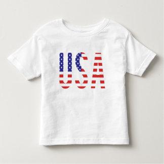 EUA - Letras da bandeira dos Estados Unidos da Camiseta