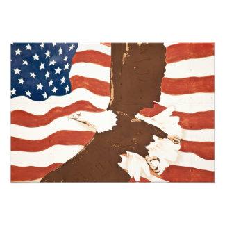 EUA, Louisiana, porto Allen. Pintura mural patriót Impressão De Fotos