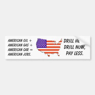 EUA-mapa-bandeira, óleo americano +Gás americano + Adesivo