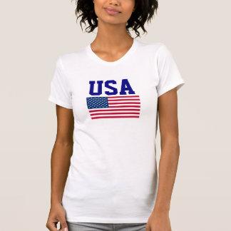 EUA que exprimem a bandeira americana dos Estados Camisetas
