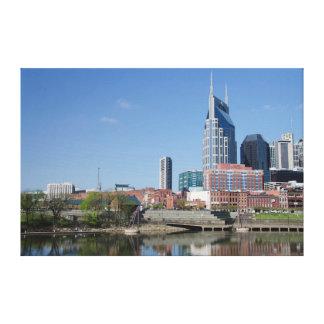 EUA, Tennessee, Nashville. Cumberland River Impressão Em Tela Canvas