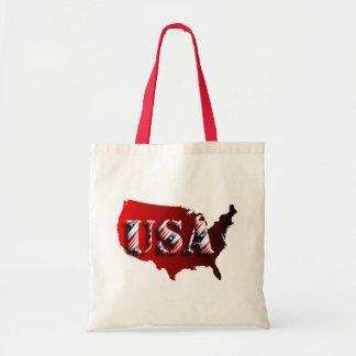 EUA vermelha+Estrelas+ Tira Sacola Tote Budget