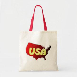 EUA Vermelha - Gold 3D Bolsas Para Compras