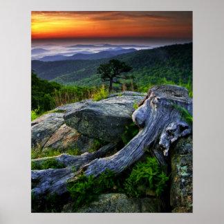 EUA, Virgínia, parque nacional de Shenandoah Poster