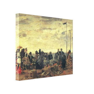 Eugene Boudin- a praia Impressão Em Tela Canvas