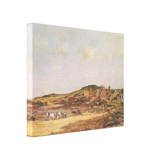 Eugene Boudin- Portrieux Impressão De Canvas Esticada