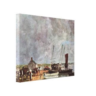 Eugene Boudin- Seehafen Impressão Em Canvas