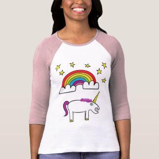 Eunice o unicórnio - senhoras 3/4 de t-shirt da camiseta