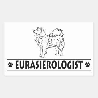 Eurasier cómico adesivos em forma retangular