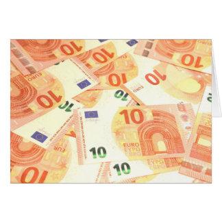 Euro- fundo cartão comemorativo