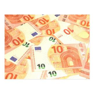 Euro- fundo cartão postal