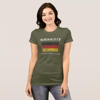 Euro- saída alemão - camisa de GEREXIT
