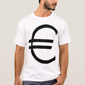Euro- sinal camiseta