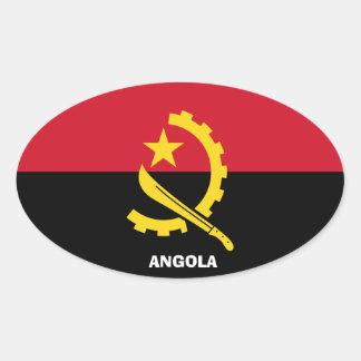 Euro--StyleOval etiqueta de Angola