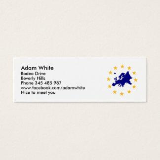 Europa Cartão De Visitas Mini