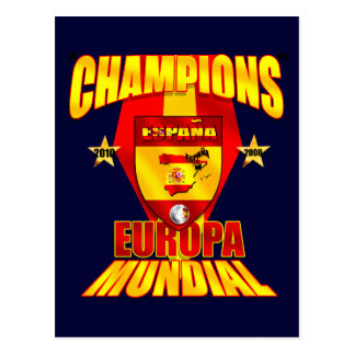 Europa dos campeões Mundial 2008 2010 Cartão Postal