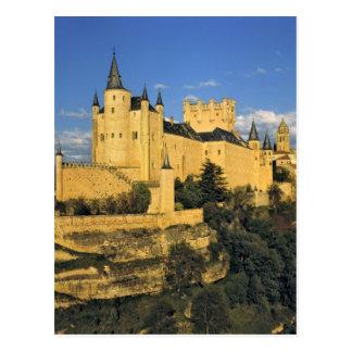 Europa, espanha, Segovia. O Alcazar imponente, Cartão Postal
